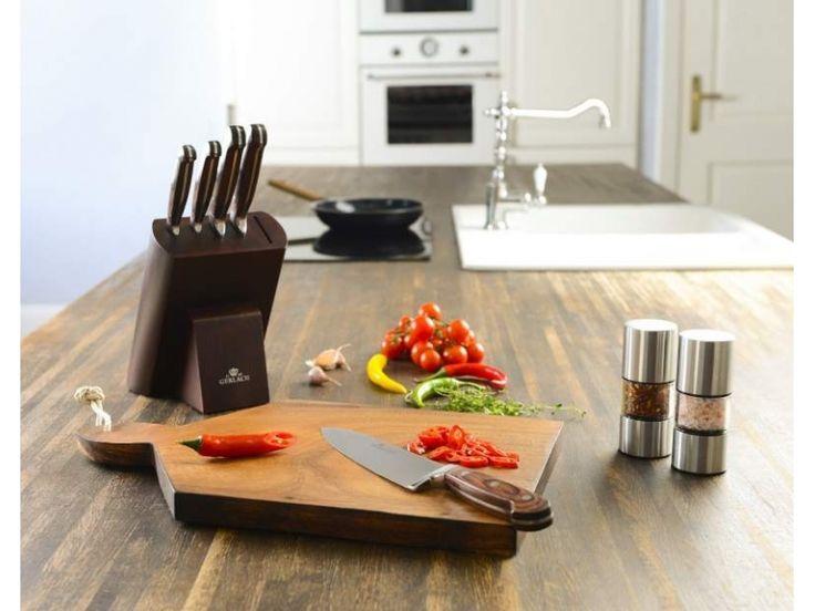 Gerlach Provence 961A - komplet 5 noży kuchennych w bloku. Pomysł na prezent. Nowoczesna kuchnia. Gotowanie.