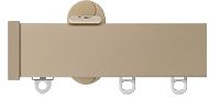Renaissance Distinction 34mm Flat Profile Curtain Track in Country Cream