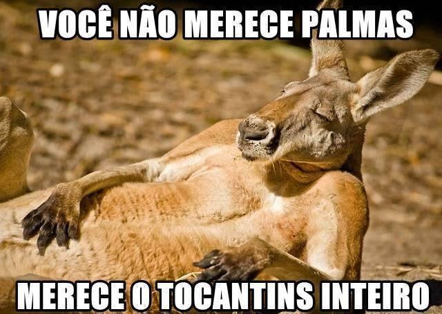 Você não merece palmas, merece o Tocantins inteiro.