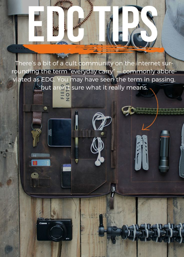 Everyday carry tips - leather organizer