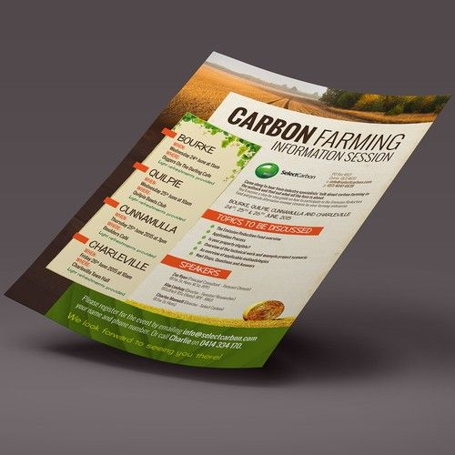Create a professional invite/flyer for upcoming rural information