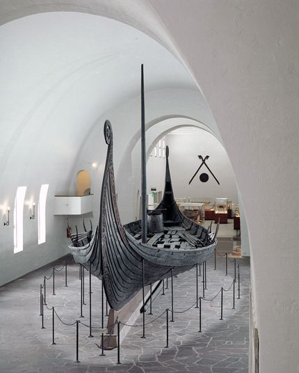 The Oseberg Ship at the Vikingskipshuset (Viking Ship Museum) Oslo