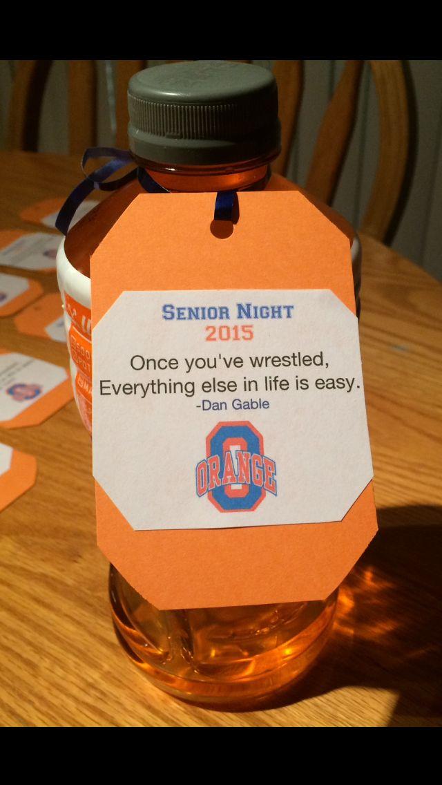 Senior night gift idea for wrestling | Senior night ideas ...