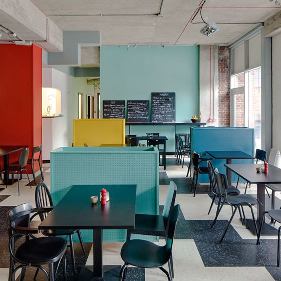 This time half the premises is a café-bar, although you can still buy your groceries there in the same package-free way as the original, and as you'd expect from the company ethos; the design is clean and lean with due care and attention paid to the eco-friendliness of the materials...