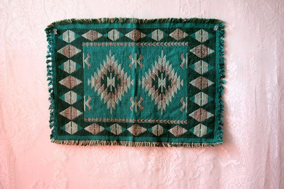 Vintage Southwestern Placemats Woven Place by blueflowervintage