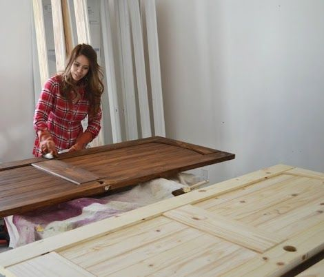 Staining Interior Doors with Ana White