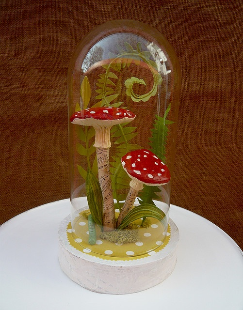 Paper mache terrarium, @Kristen - Storefront Life Therrell  we should do this with the boys!
