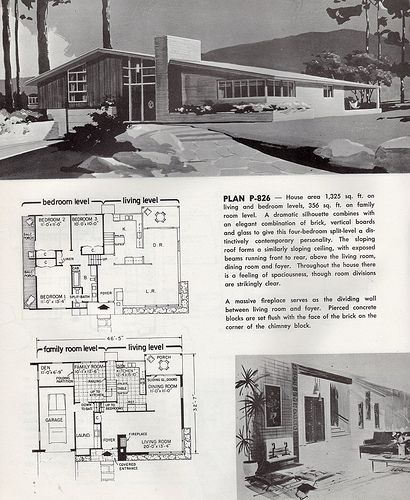 Mid Century Modern Home Plans 154 best mid century modern house plans images on pinterest | mid
