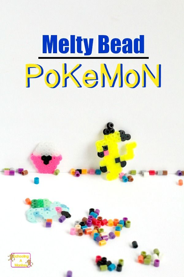 Looking for Pokemon crafts? Melty bead Pokemon are a fun way to use up Perler beads and make a Pokemon activity at the same time! A perfect summer craft!