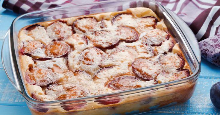 Découvrez cette recette de Clafoutis aux prunes de Gary pour 4 personnes, vous adorerez!