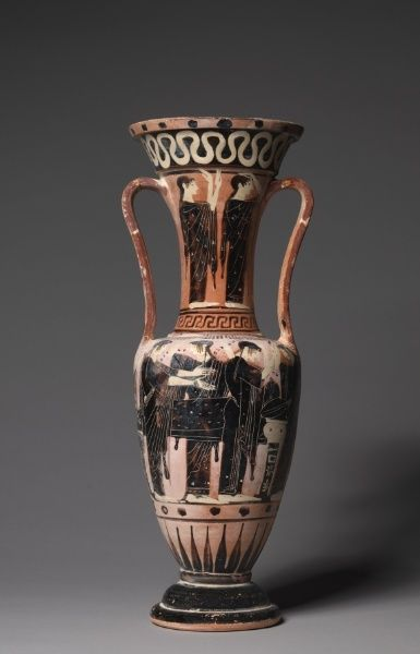 Loutrophoros, c. 500 BC Greece, late 6th Century BC  black-figure terracotta