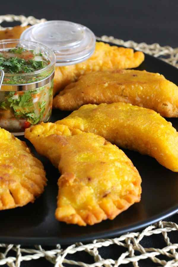 Empanadas are Spanish and South American turnovers filled with various ingredients depending on the country or region they come from.