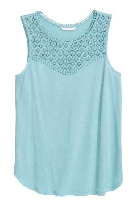 Vest top with lace