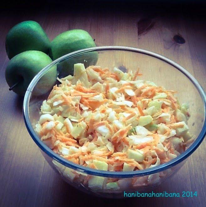 hani bana hani bana: Tarif No:52 Yeşil Elmalı Beyaz Lahana Salatası (Co...
