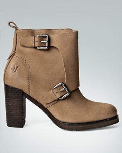 Marc O'Polo Damen Schuhe Stiefeletten mit Schließen-Detail braun VAVFEWCM