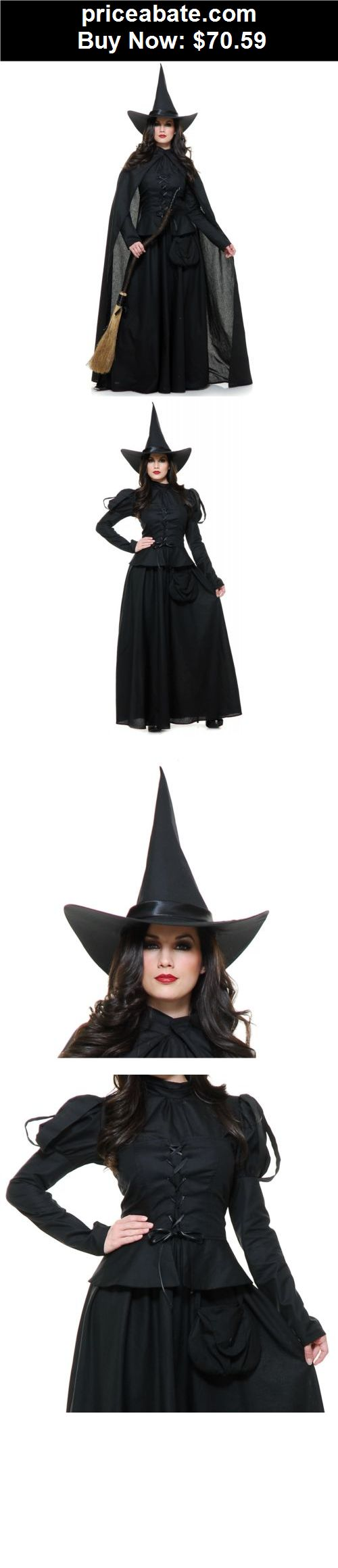 Women-Costumes: Wicked Witch Costume Adult Halloween Fancy Dress - BUY IT NOW ONLY $70.59