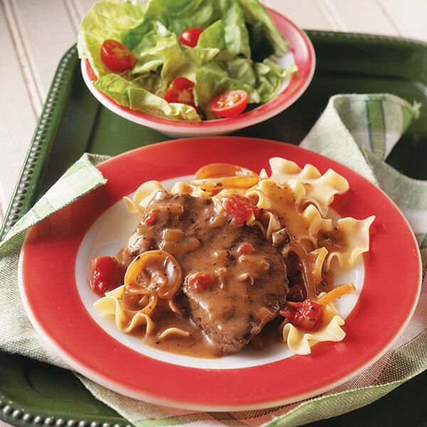 This tender, home-style steak and noodle dish made in a slow cooker, is a family favorite.
