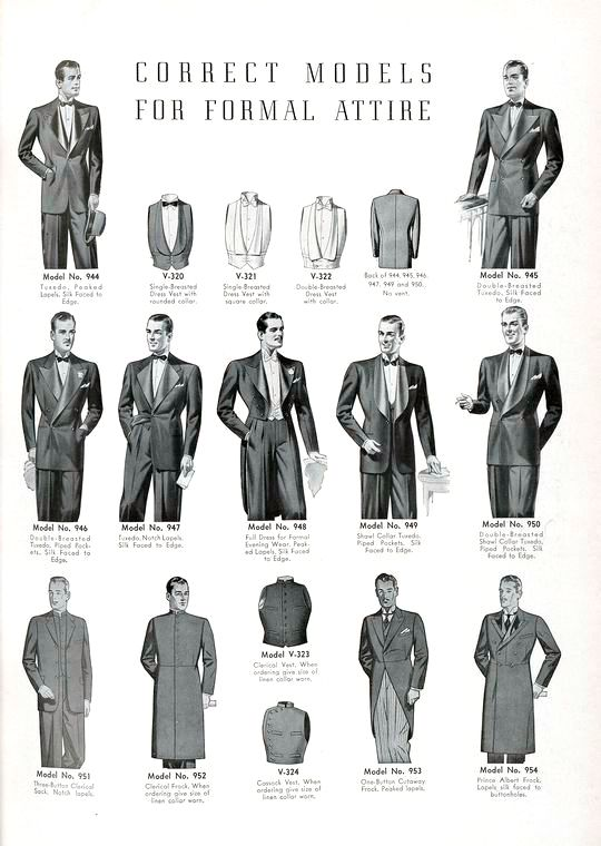 Correct models for formal attire. #vintage #menswear #1940s