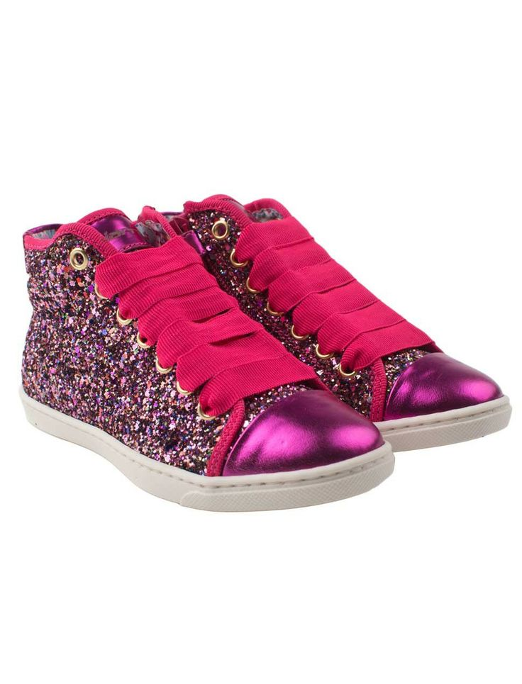 Ultimate cool glitter girls sneakers in glamorous fuchsia
