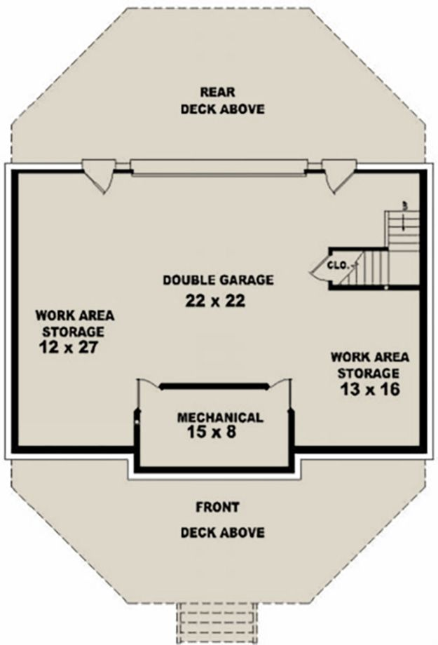 House Plan 053 00214 Small Plan 1 280 Square Feet 2 Bedrooms 2 Bathrooms Cabin House Plans House Plans How To Plan