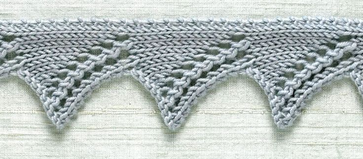 Knit Trim: Zig Zag Pattern Free - - I must say that Lion Brand yarn has an awesome site. You can look up this and other stitches for free.