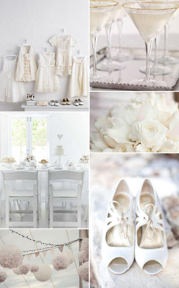 White Wedding, Pure White Wedding Ideas, All-White Wedding Decor