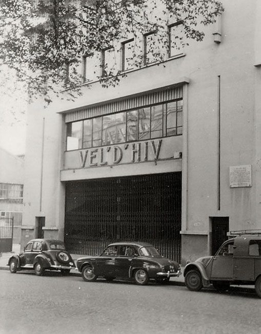 Entrance to the Vel' d'Hiv (the Winter Stadium, or Velodrome d'Hiver), where Jews were detained en-mass in preparation for their deportation to concentration camps in France. Courtesy Ghetto Fighters' House [1]50687