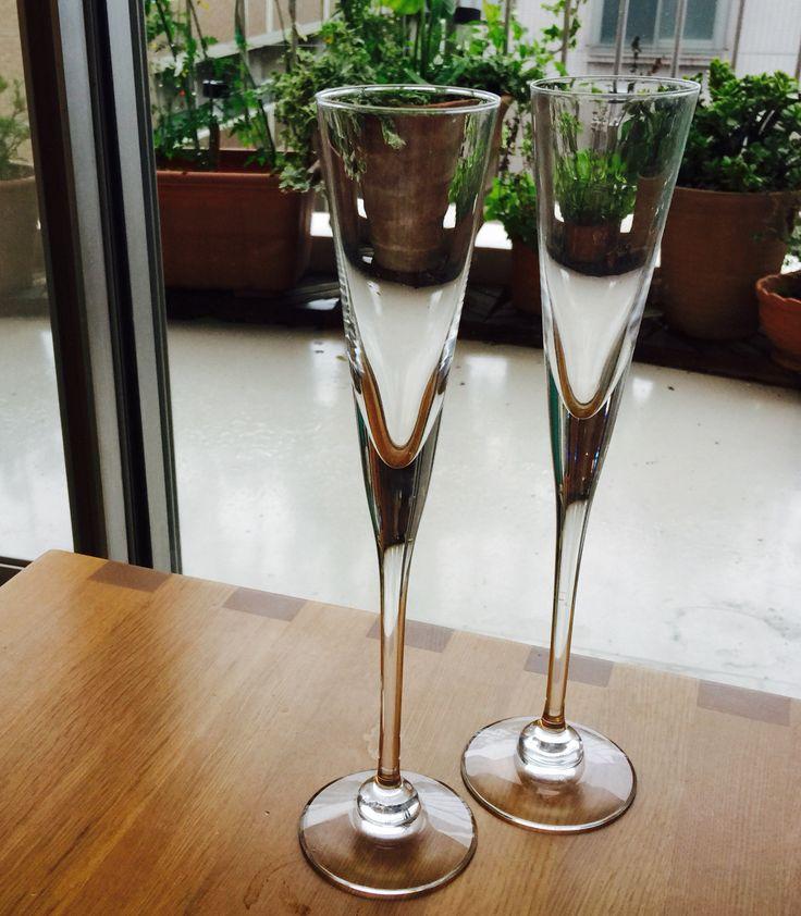 Iittala Aurora Champagne Glasses (1972)