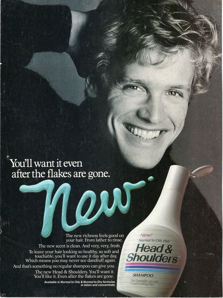 Head and Shoulders Shampoo Dandruff Flakes Lotion Concentrate 1986 Magazine Ad  | eBay