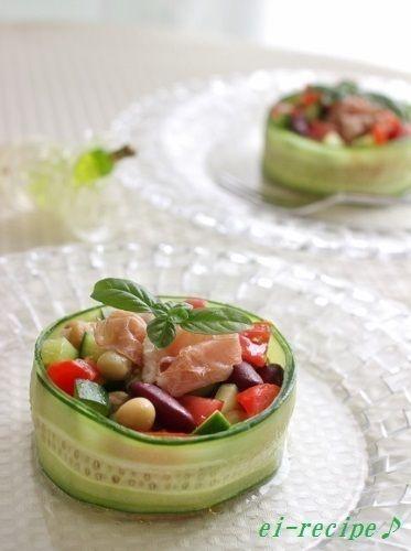 電気や火を使わない~きゅうりのカップサラダ♪ by ei-recipeさん ...