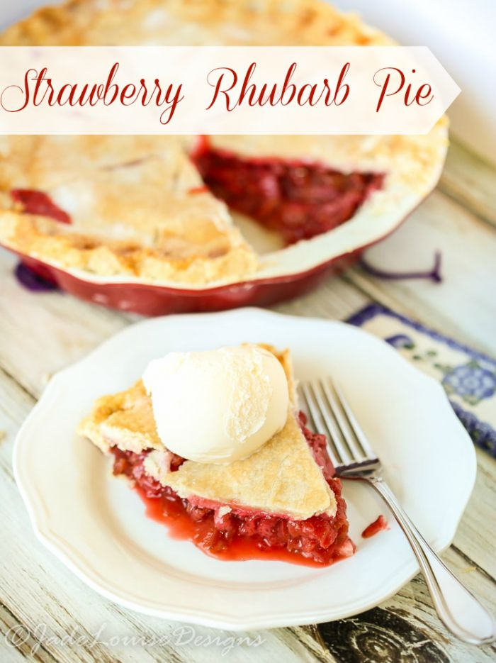 Only the best fruit and veggie combination in the history of sweets - Strawberry Rhubarb together in a mouthwatering Strawberry Rhubarb pie!