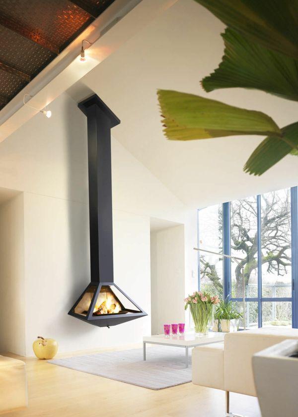 20 Einrichtungsideen Fur Hangenden Kaminofen Im Modernen Haus