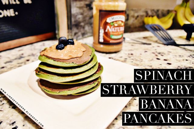 Spinach Strawberry Banana Pancakes: 80 Day Obsession Approved Recipe