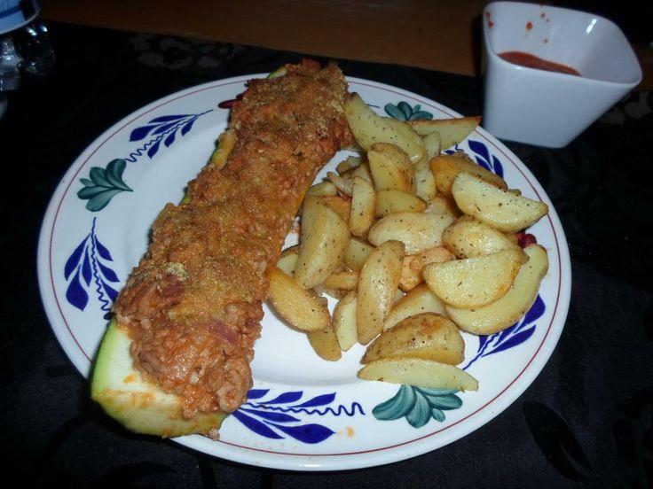 Food Friday | Gevulde courgette met gebakken aardappeltjes - www.beamingbeauty.nl