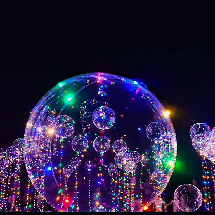 WeStylish,Balloon String Lights,3PCS Bobo Balloons with 3 Meter Led Copper Lights,18-inch LED String Transparent Helium Balloon,Colorful Wave Ball for Christmas,Birthday Party,Gift for Child,Kid,lover