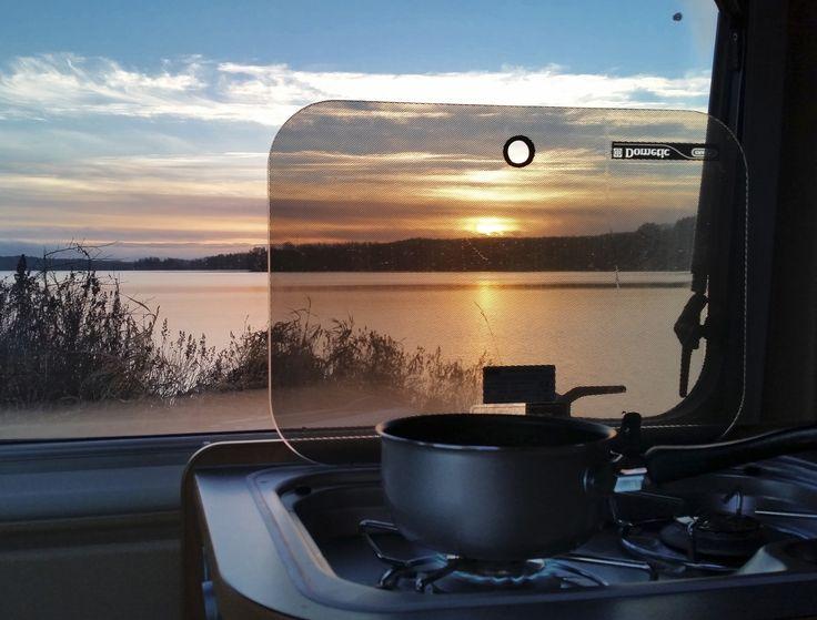 Wintry sunrise by the lake Lehijärvi
