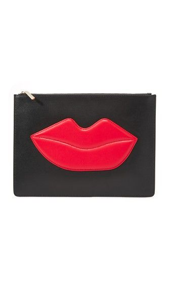 alice + olivia Large Lip Zip Pouch