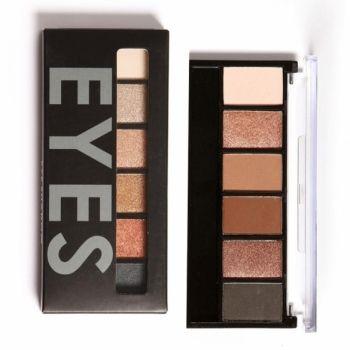 6 цветов Тени для век макияж Косметические Матовый Shimmer Eye Shadow Palette с зеркалом тени для глаз Губка