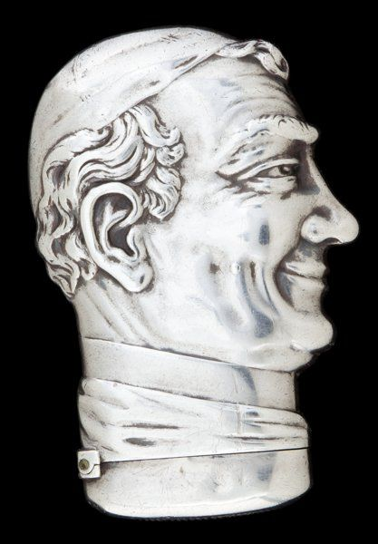 Howard silver match safe, Pope Pius IX.