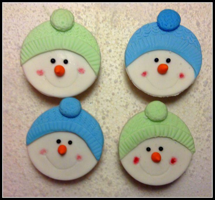Snowman bonhomme de neige cupcakes cupcakes pinterest - Pinterest bonhomme de neige ...