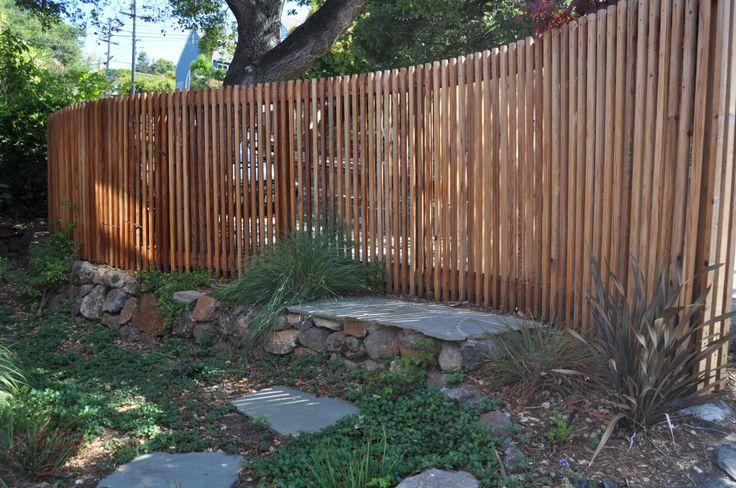Curved Wood Fence | lazar landscape