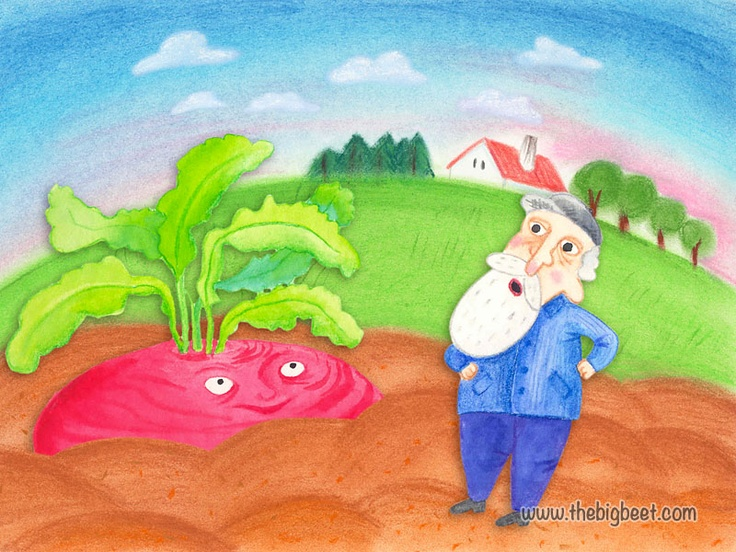 (2/14) The seed soon began to grow. It grew and grew and grew until it was big - very big. When grandpa saw it, he started to wonder what he would do with it.
