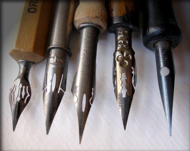 Artimañas: Otras plumillas de dibujo - Plumes pour dessin - Drawing pen nibs