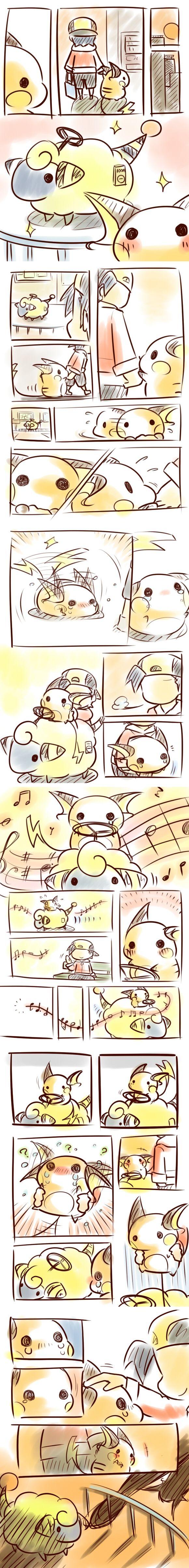 Pixiv Id 3414789, Nintendo, Pokémon, Hibiki (Pokémon), Raichu, Mareep