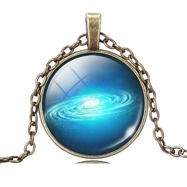 Vintage full moon glass alloy chain necklace jewelry photo necklace pendants uk #jewelry #bezel #pendants #necklace #pendants #tiffany #necklace #pendants #to #make #necklace #pendants #without #chain