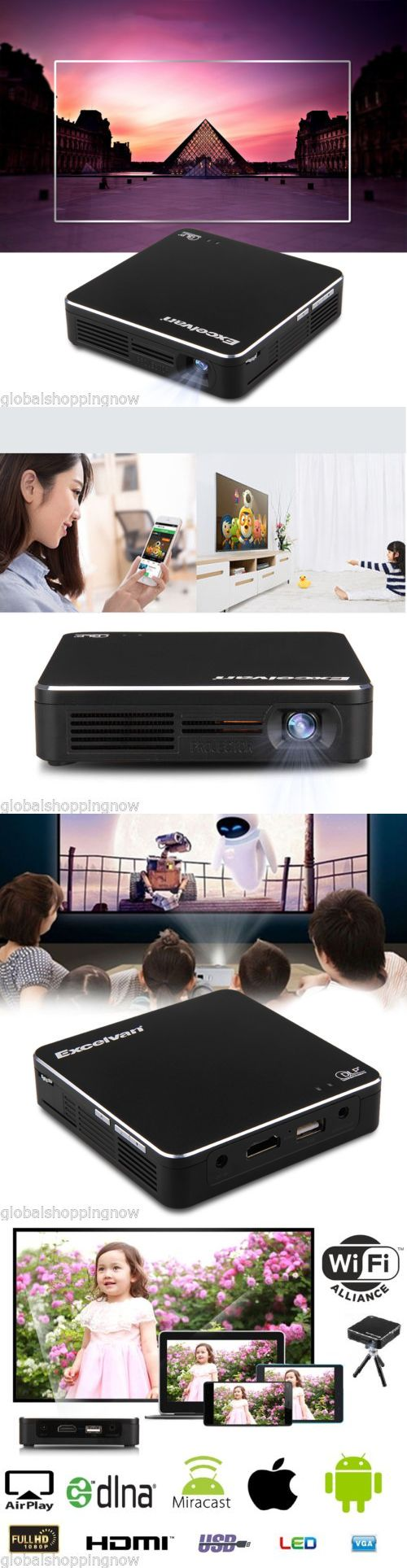 Home Theater Projectors: Mini Dlp Wifi Led 3200Lumens Projector Hd 1080P Hdmi Usb Miracast Airplay+Tripod -> BUY IT NOW ONLY: $109.99 on eBay!