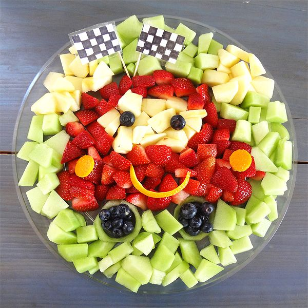 Disney Cars Fruit Tray - Working Mom's Edible Art