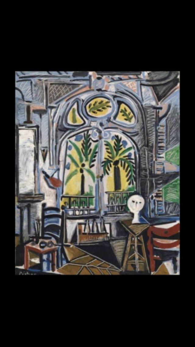 """Pablo Picasso -"""" L'Atelier  """", 1955 - Huile sur toile - 81 x 65 cm (..)"""