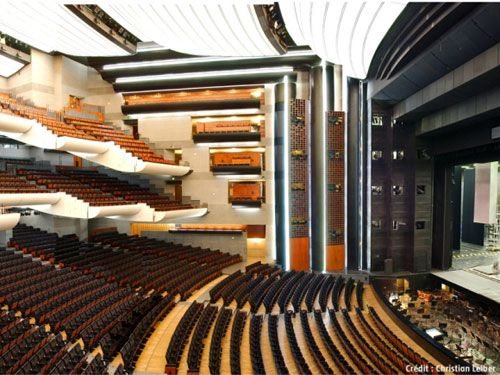 Stop off in Paris? The Jeu de Paume hotel is only 20 minutes away from the Opera Bastille.  http://www.jeudepaumehotel.com/
