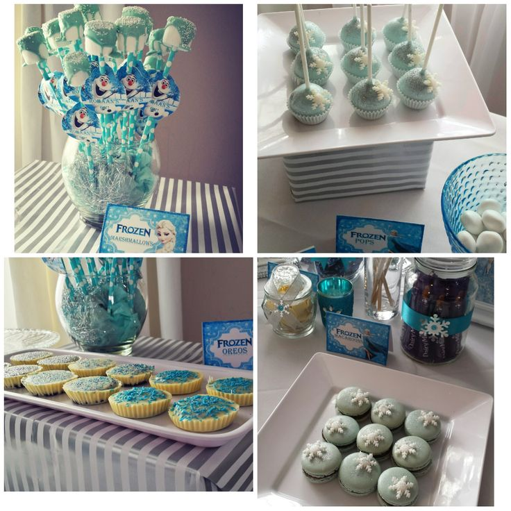 frozen themed party deco